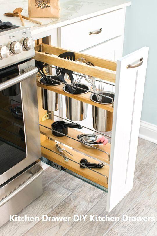 15 incredible kitchen drawer diys 3 shelved drawer white in rh pinterest com
