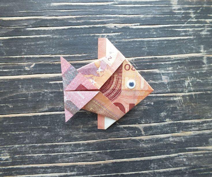 Fisch falten aus Geldschein – einfache Anleitung