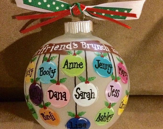 5 8 Names On This Personalized Hand Painted Ornament Etsy Christmas Ornaments Homemade Christmas Ornaments To Make Family Christmas Ornaments