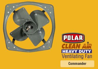 Heavy Duty Turbo profiled broad anti corrosive powder coated glossy metallic finish blade leaf to give maximum air delivery with vibration free operation.