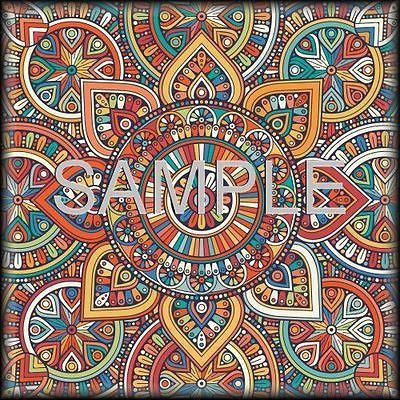 Ceramic-Accent-Tile-Backsplash-Moroccan-Tile-Medallion-Red-Yellow-Blue-Rust