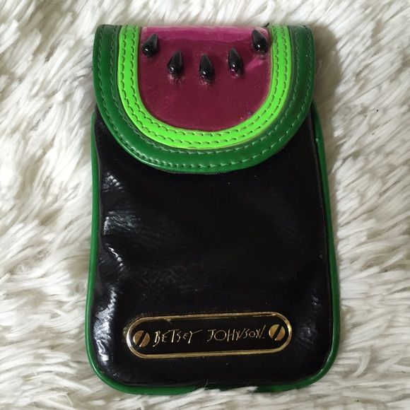 Betsey Johnson Watermelon Phone Case Pocket Barely used • fits iPhone 4-5 and many other phones Betsey Johnson Accessories Phone Cases