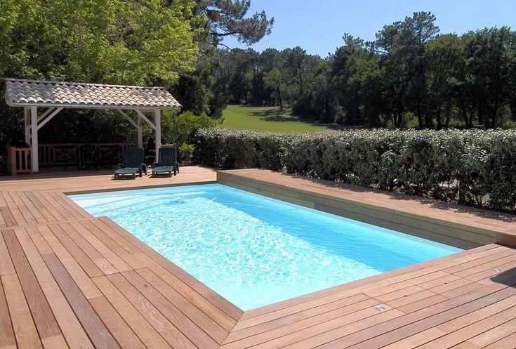 terrasse bois piscine sans margelle