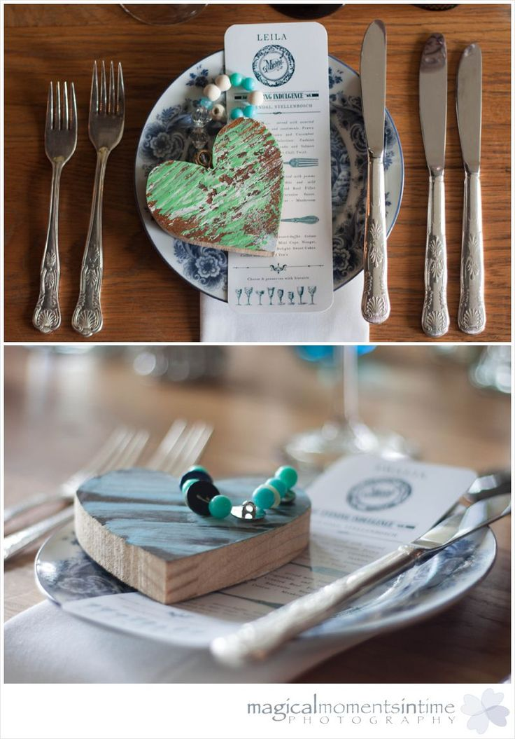 Wedding at 401 Rozendal gorgeous decor with green painted wooden hearts