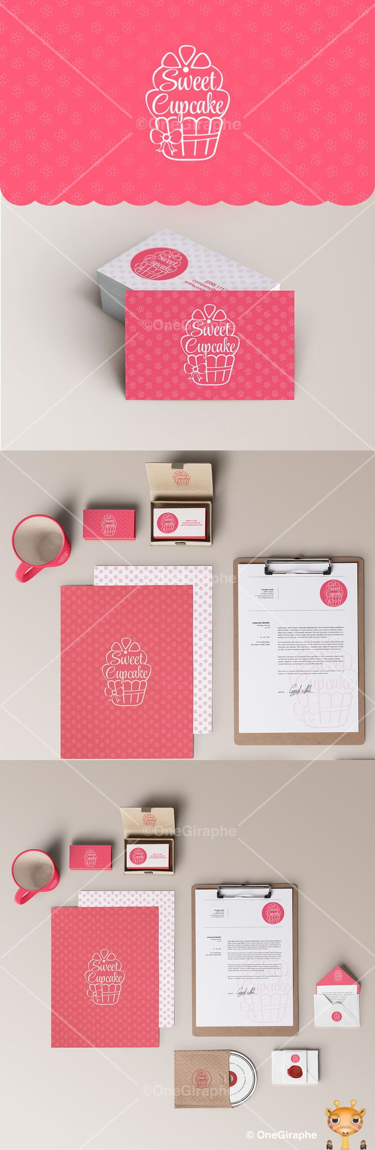 Branding for Cake, Cupcake & Bakery for sale! PRICE : $600 - Logo ( color variations and black / white ) + business card design ( 2 sides ) as bonus. Format files: eps, pdf, png, jpg or any other at request. Order now at: onegiraphe@gmail.com