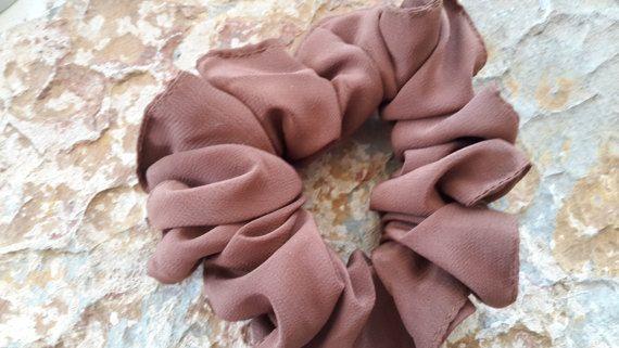 Handmade,large,brown ,very soft,crease -resistant,easy care,hair bun/tie/holder/ponytail tie/holder/hair tie/holder/upswept hair holder/tie