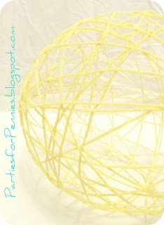 Parties For Pennies: The D.L. on the Y.L. (Yarn Lanterns)