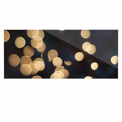 "East Urban Home 'Blurred Lights' Graphic Art Print on Metal Size: 16"" H x 20"" W x 1"" D"