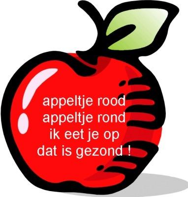 versje appeltje rood