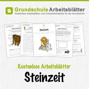 Kostenlose Arbeitsblätter und Unterrichtsmaterial für den Sachunterricht zum Thema Steinzeit in der Grundschule.