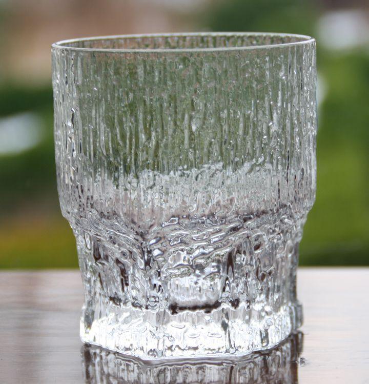 IITTALA Wasserglas ASLAK Whisky Cocktail Design TAPIO WIRKKALA  9 cm Höhe