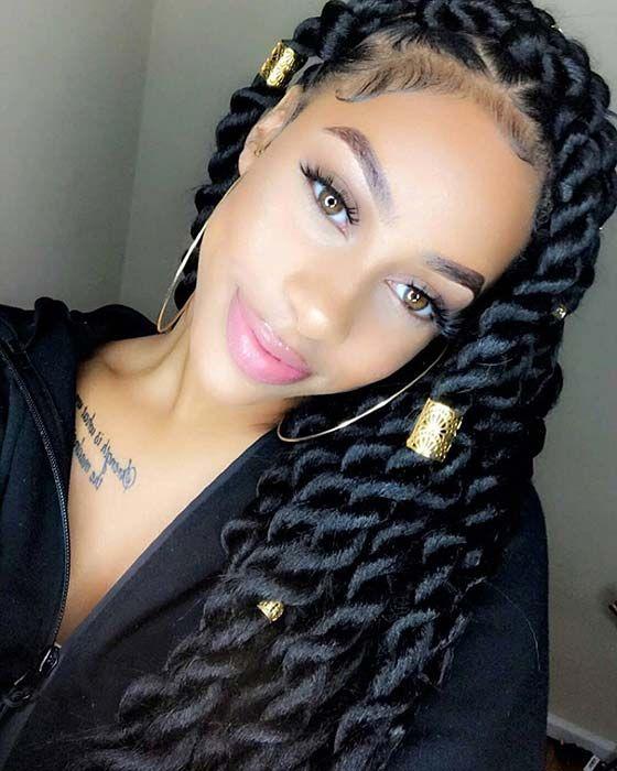 49 Senegalese Twist Hairstyles For Black Women Hair