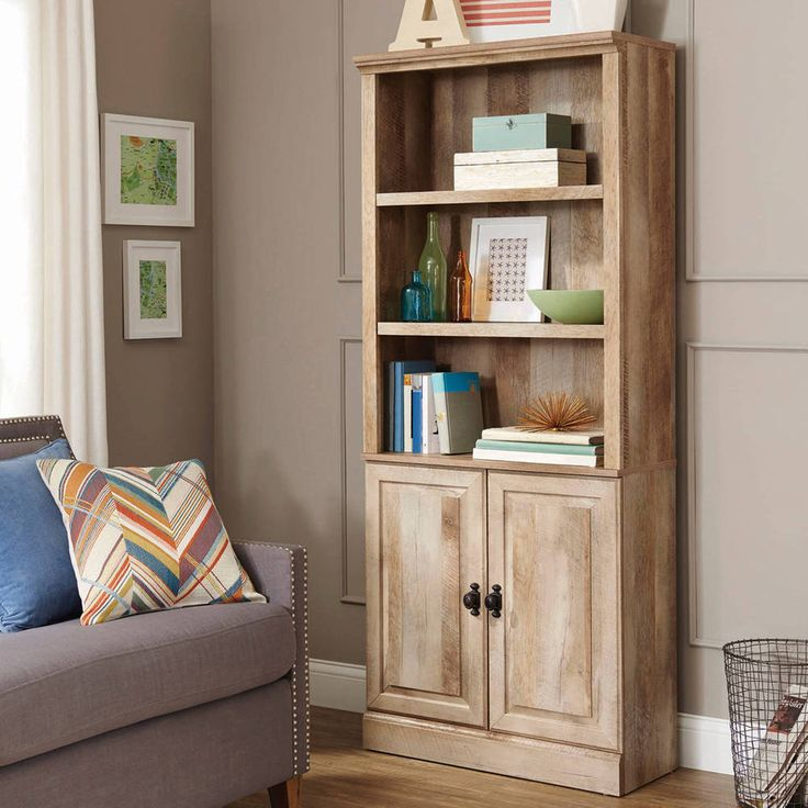 Bookcase with Doors Bookshelf Learning Office Furniture