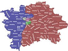 Confusingly, several incompatible district systems are used in Prague. Partially, different systems are from different historic periods, but at least three different systems are used today for different purposes. To make things even worse, a single district name can be used in all the systems, but with different meanings.