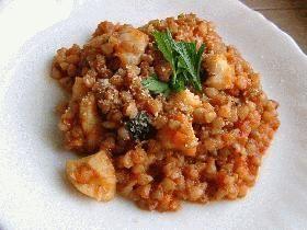 蕎麦の実(米)トマトリゾット
