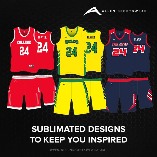 8269c99e2 Customize your team s  basketball  uniforms online at Allen  Sportswear to  your exact specifications and color combination. We use the best quality  fabrics ...