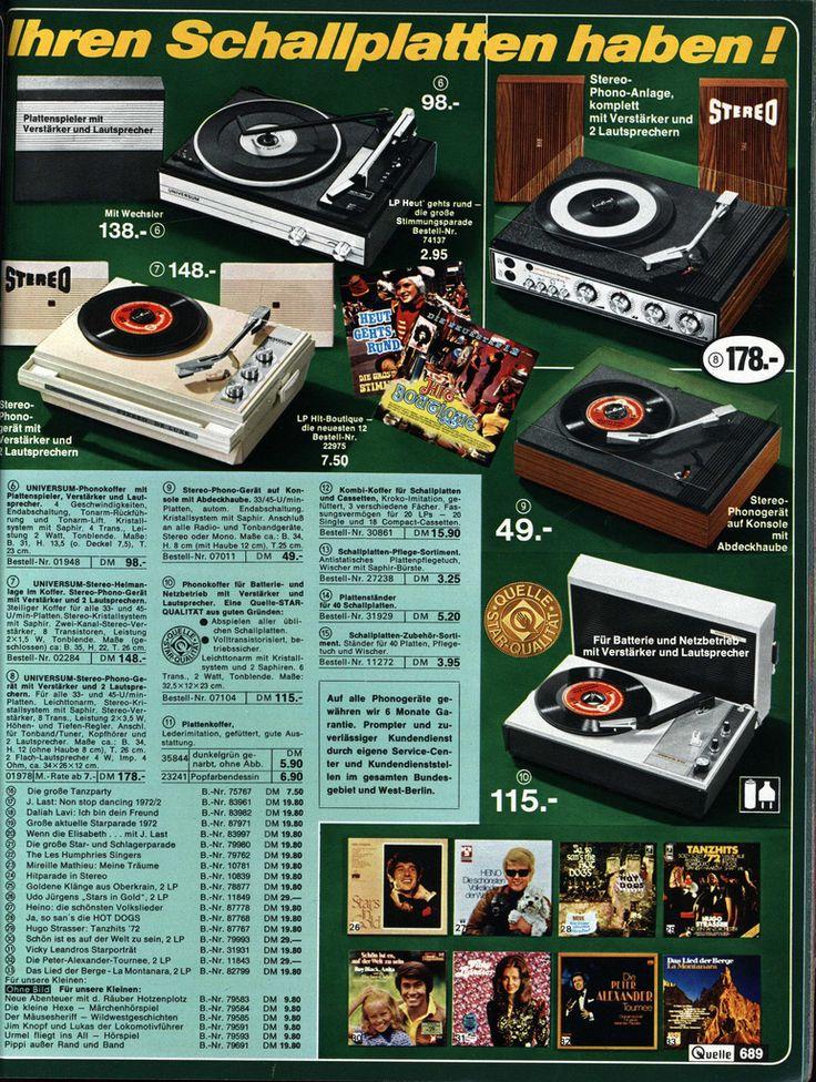 all sizes 1972 quelle 689 schallplattenspieler flickr photo sharing quelle katalog. Black Bedroom Furniture Sets. Home Design Ideas