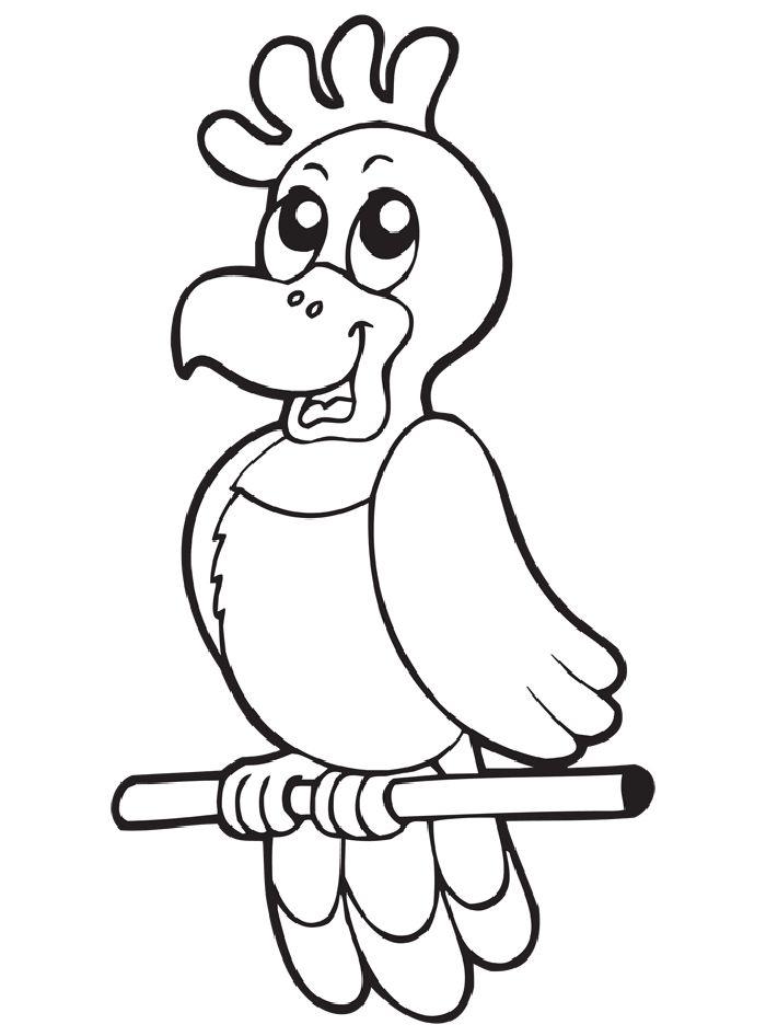 papağan boyama sayfası | papagei, kostenlose ausmalbilder