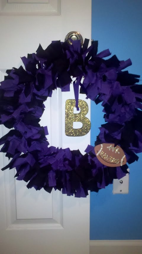Baltimore Ravens wreath for my friend Crystal