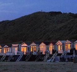 Strandhuisje westduin, bij Vlissingen Zeeland