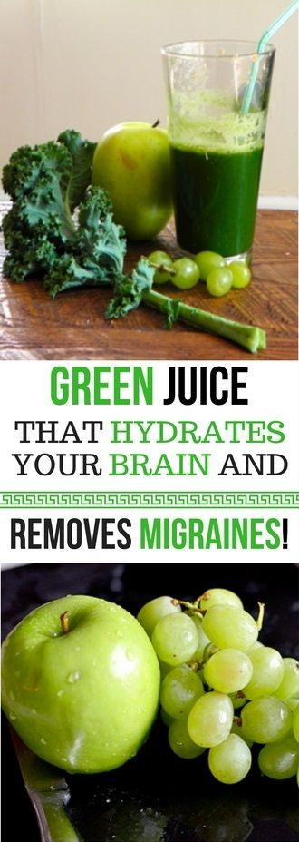 A GREEN JUICE THAT HYDRATES YOUR BRAIN AND REMOVES MIGRAINES -