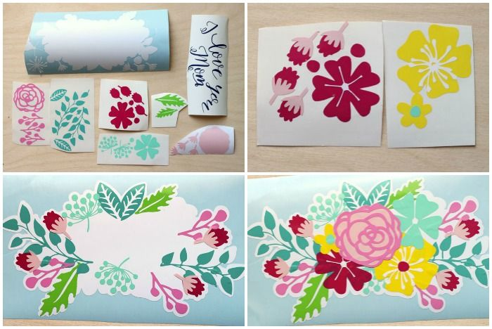 Gift Idea- Plant Pot Decals with Free Silhouette Cut File