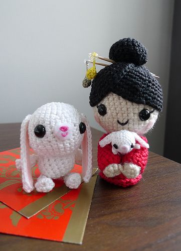 Chinese New Year Doll Amigurumi  (pattern and tutorial FREE!)