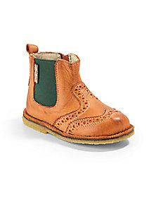 Naturino - Infant's, Toddler's & Kids' Leather Chelsea Wingtip Boots