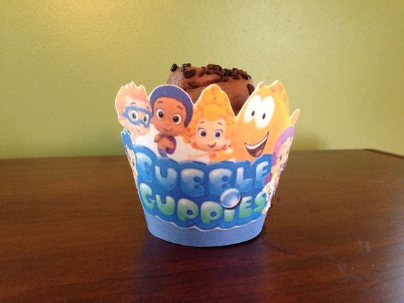 Bubble Guppies cupcake liners - bubbleguppies kid cupcakes nickelodeon theme parties bubble guppies decor