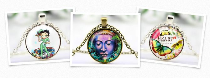 All Cabochon Necklaces including our Buddha cabochon.