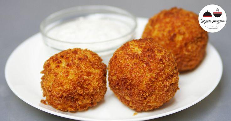 Картофельные шарики с сыром и ветчиной