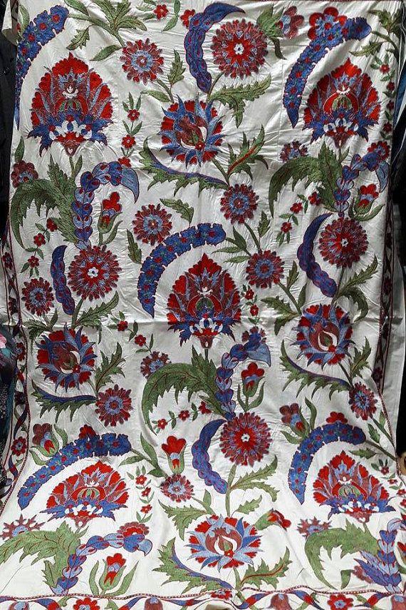 Suzani handmade from Uzbekistan.Tablecloth by SuzaniUzbekistan