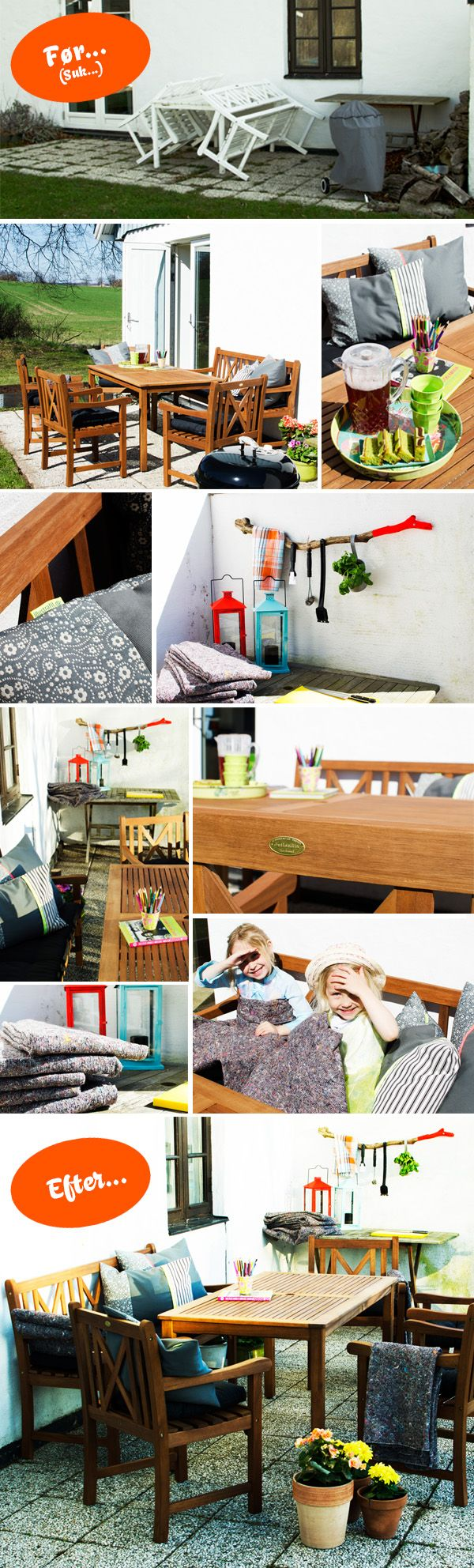 Terrasse med møbler fra JYSK - Del 1 - Illustrafils Blog