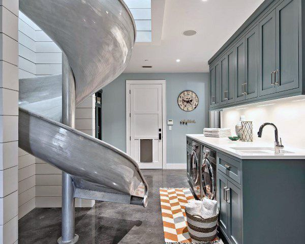 Top 50 Best Laundry Room Ideas Modern And Modish Designs Designs Ideas Laundry Modern Modish Room Top In 2020 Mudroom Design Laundry Room Design Indoor Slides