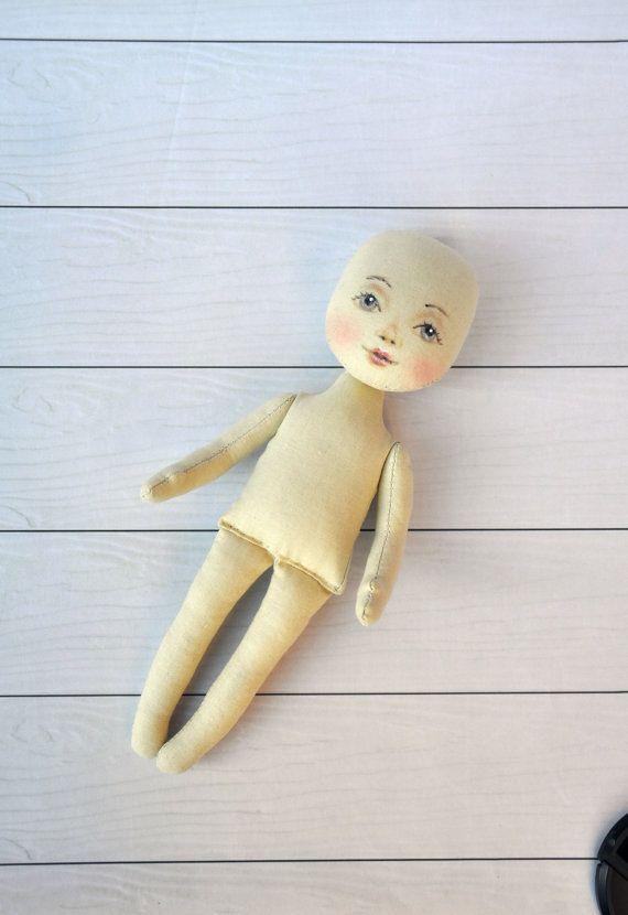 """Blank doll body-9"""",  blank rag doll, ragdoll body,the body of the doll made of cloth"""