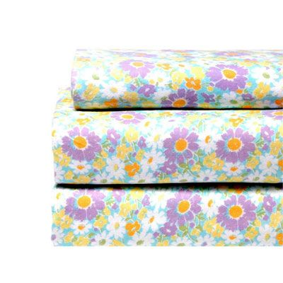 marisa flannel sheet set by laura ashley starting at flower floral bright