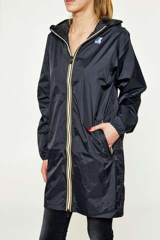 impermeable k-way le vrai eiffel 3.0 noir femme veste et manteau pret a porter femme