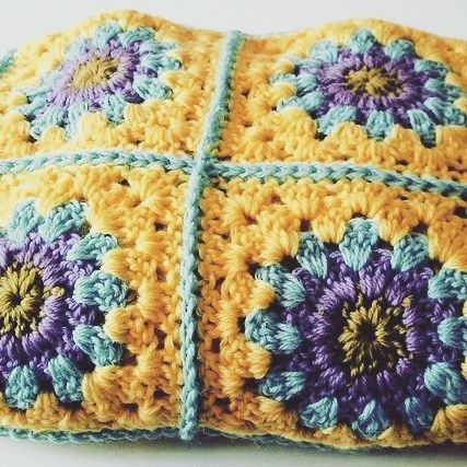 thesunroomuk:- Pure wool crochet blanket made to illustrate a pattern available in my etsy store and on Ravelry. I'm putting this on my 'to make' list as I now have the wool required it's currently sitting at #4 on the list  #yarnlover #yarnaddict #yarnlove #crochetaddict #colouraddict #wool #thesunroomuk #crochetersofinstagram #instacrochet #vintagestyle #vintagecrochetpattern #retrocrochet #crochetpattern #grannysquaresblanket #crochetblanket #crochetafghan #grannysquare #grannysquares…