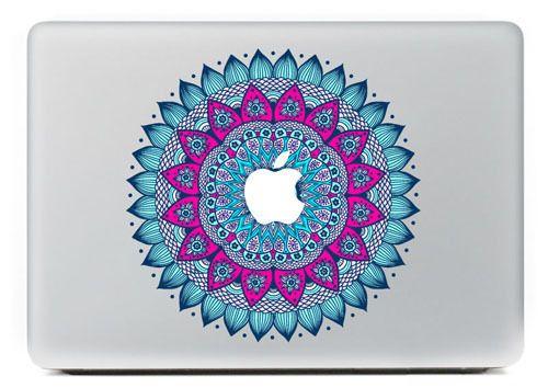Le motif décoratif de la peau de protection pour ordinateur portable bleu Pour Vinyl Decal Sticker MacBook Pro 13 15 / Air / Retina MC-046