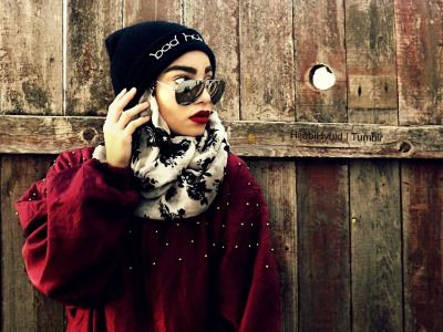 hijabihybrid:Bad hair day beanie. Instagram @HijabiHybrid.