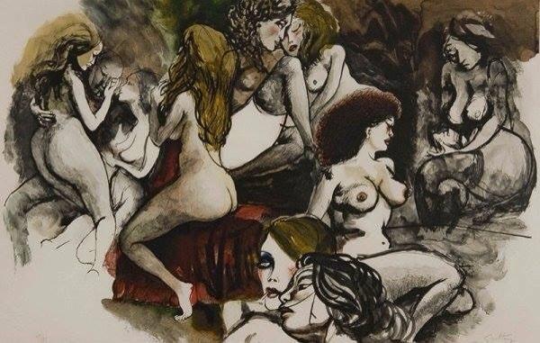 Renato Guttuso「Le figlie di Loth」