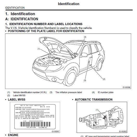Pin By Gtm On Workshop Manuals Subaru Forester Repair Manuals Manual