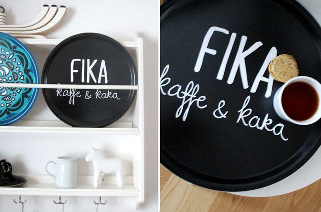 Tray, Fika. Design Kajsa Nilsson. www.kajsanilsson.com