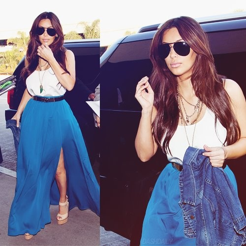 Kim Kardashian...love this outfit! Need to find me a long skirt like this one