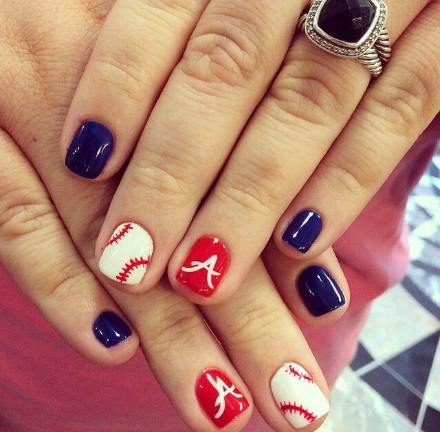 Atlanta Braves nails - Best 25+ Baseball Nail Designs Ideas On Pinterest Softball Nails