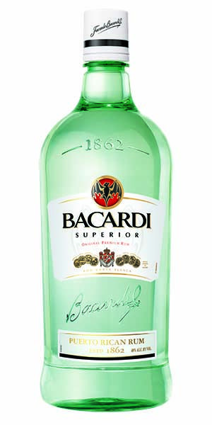"""""""Bacardi Superior Rum offers distinctive vanilla and almond notes which are developed in white oak barrels and shaped through a secret blend of charcoal for a distinctive smoothness. The balance of subtle and delicate flavors make it perfect for mixing classic cocktails like the Mojito."""" – Distiller's notes"""