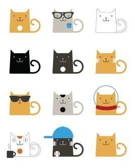 "cats illustration - ""Google"" paieška"