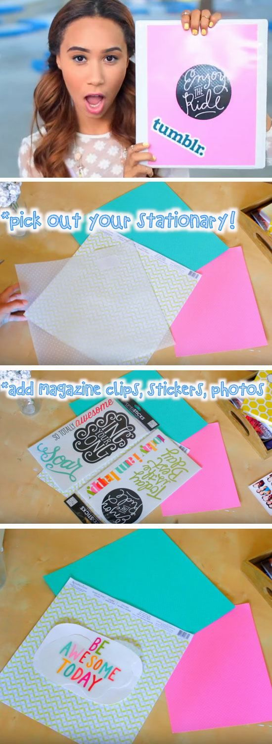 Personalized Binders   DIY Tumblr Inspired School Supplies for Teens you need to try!