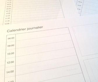 SUPER SITE Calendrier journalier / quotidien à imprimer