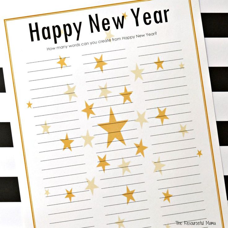 New Year's Eve Word Puzzle {Free Printable} New year's